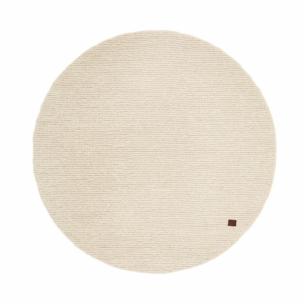 vit rund matta
